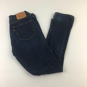 Levi 511 Slim Fit Blue Jeans Dark Skinny  33x32